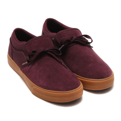 Supra Suede Cuba Wine-Gum (Burgundy/Brown) Slip-On Men's Shoe