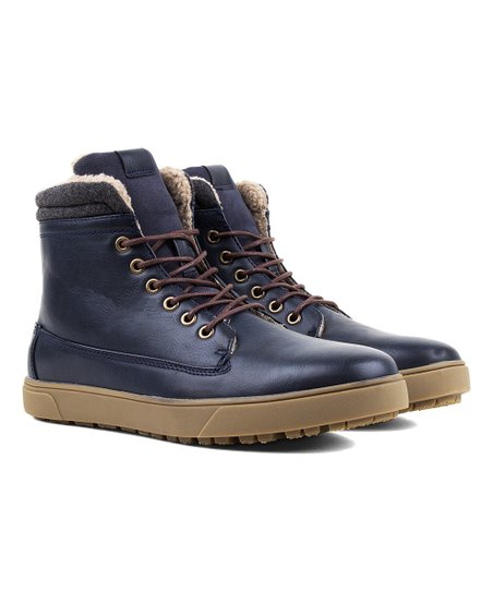 TONY'S CASUALS Navy Ankle Chukka Boots Faux Shearling Lined Men's Size 8