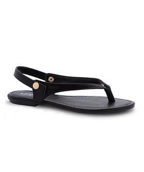 REFRESH Dale Black Thong Sandals Women's Size 6