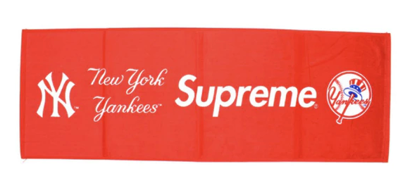 Supreme New York Yankees Hand Towel Red