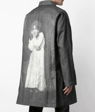 Undercover Cindy Sherman Denim Print Coat