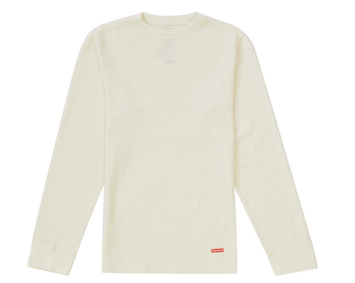 Supreme Hanes Thermal Crew (1 Pack) FW19 Natural