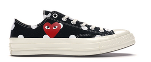 Converse Chuck Taylor All-Star 70s Ox Comme des Garcons PLAY Polka Dot Black
