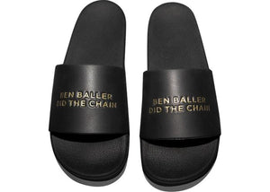 "Straye ""Ben Baller Did The Chain"" Slide Black/Gold"