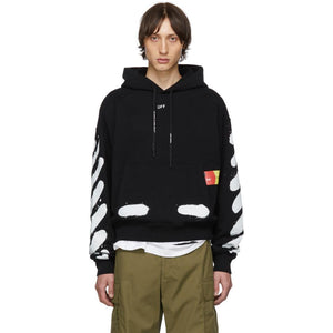 Off-White SSENSE Exclusive Black Incomplete Spray Paint Hoodie