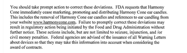 ear candles and the FDA