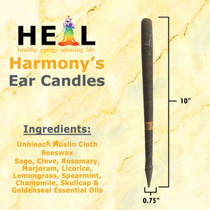 healthyenergyamazinglife Ear Candles Large Herbal Beeswax Harmony's Ear Candles - Bulk