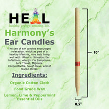 Load image into Gallery viewer, healthyenergyamazinglife Ear Candles Lemon, Lime & Peppermint Ear Candles - Bulk