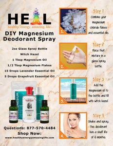 healthyenergyamazinglife Natural Health Products DIY Deodorant Kit