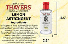 Load image into Gallery viewer, Thayers Witch Hazel Astringent- Lemon