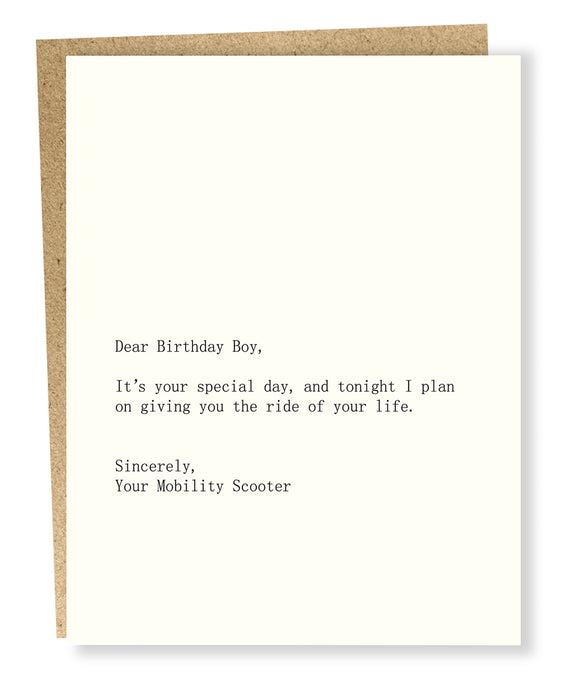 birthday boy/scooter card