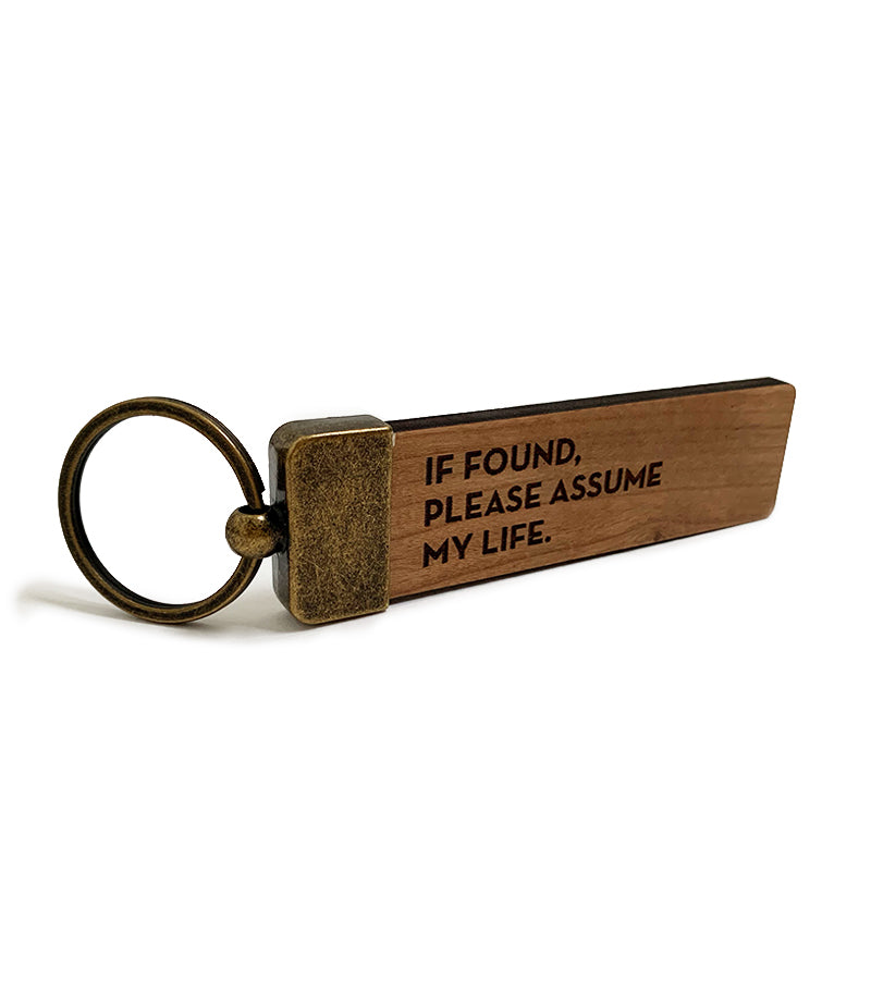 assume life key tag