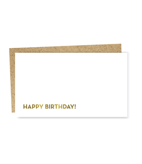 happy birthday mini card