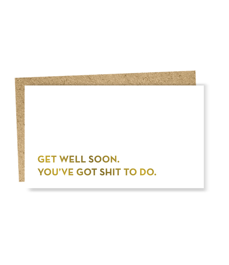 get well soon mini card