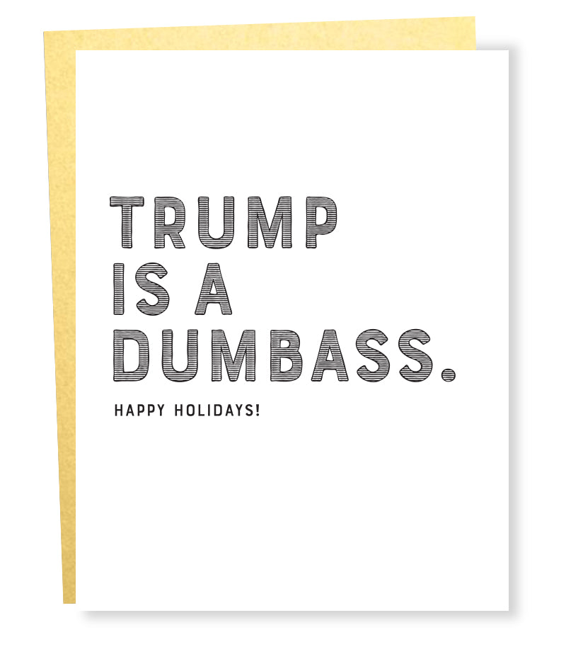 trump dumbass card