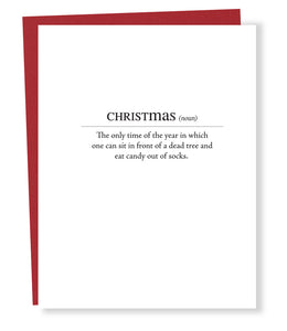christmas definition card