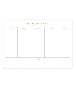 different day desk pad