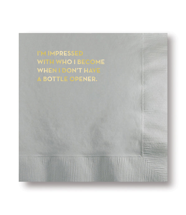 bottle opener napkins