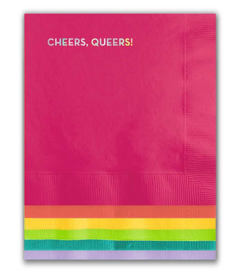 cheers queers pride napkins