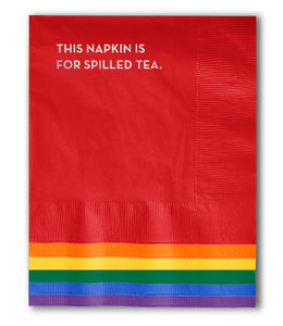 spilled tea pride napkins