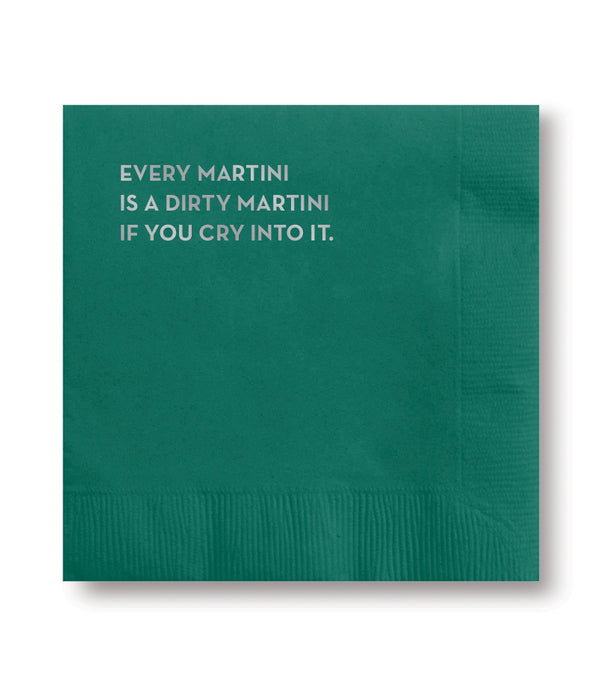 dirty martini napkins