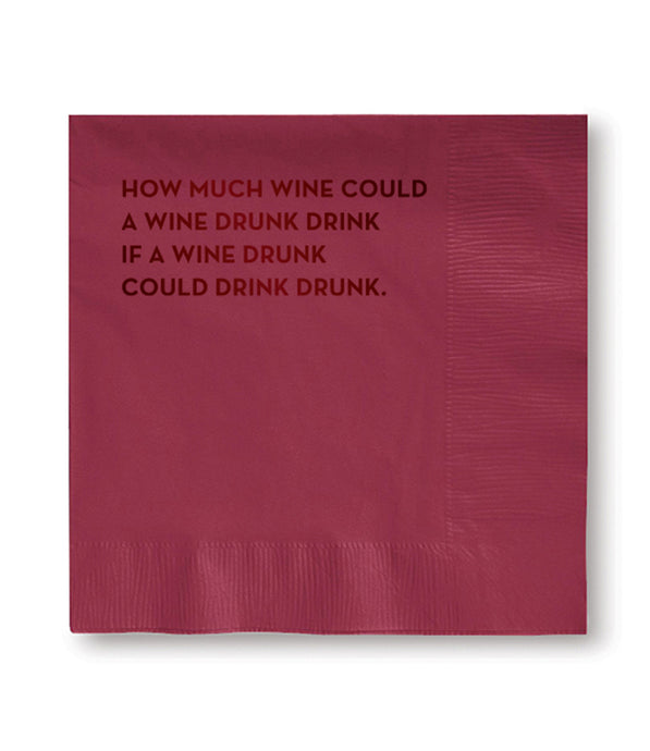 wine drunk napkins