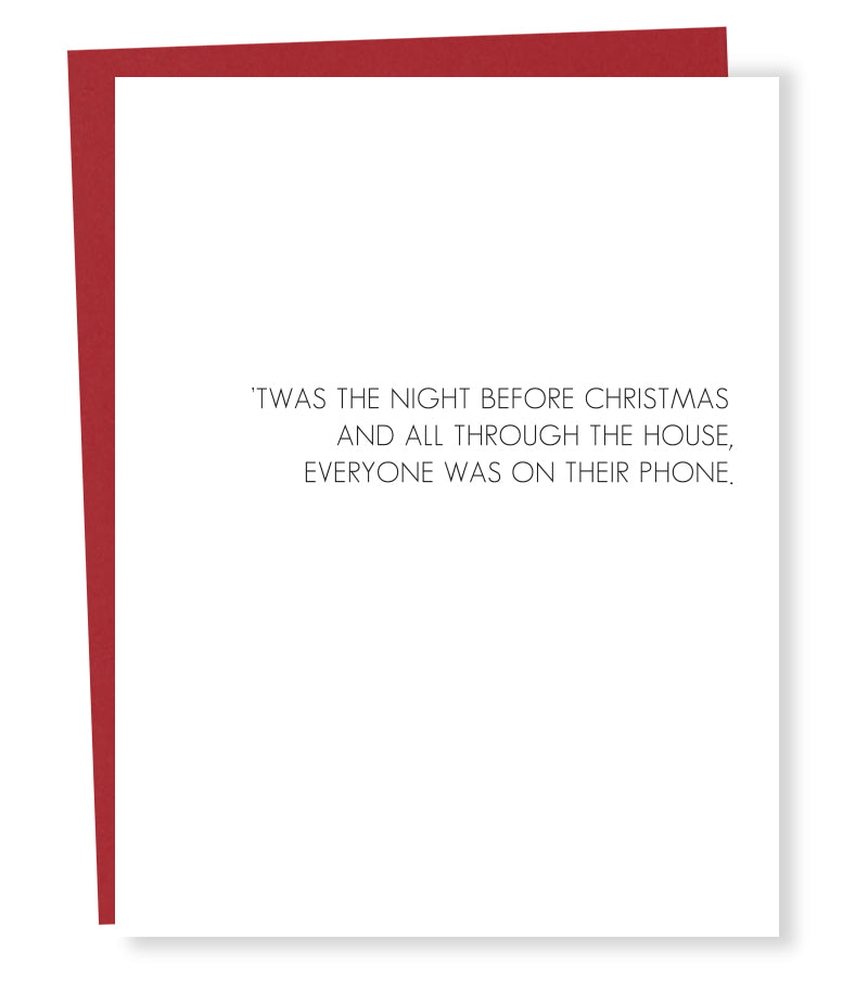phone holiday card