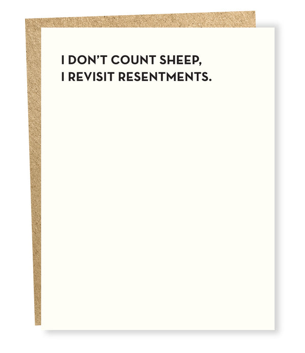 resentments card