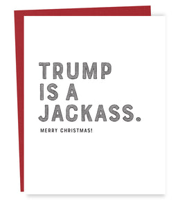 trump jackass card