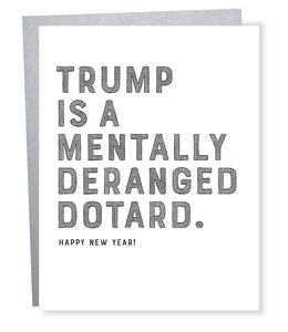 trump dotard card