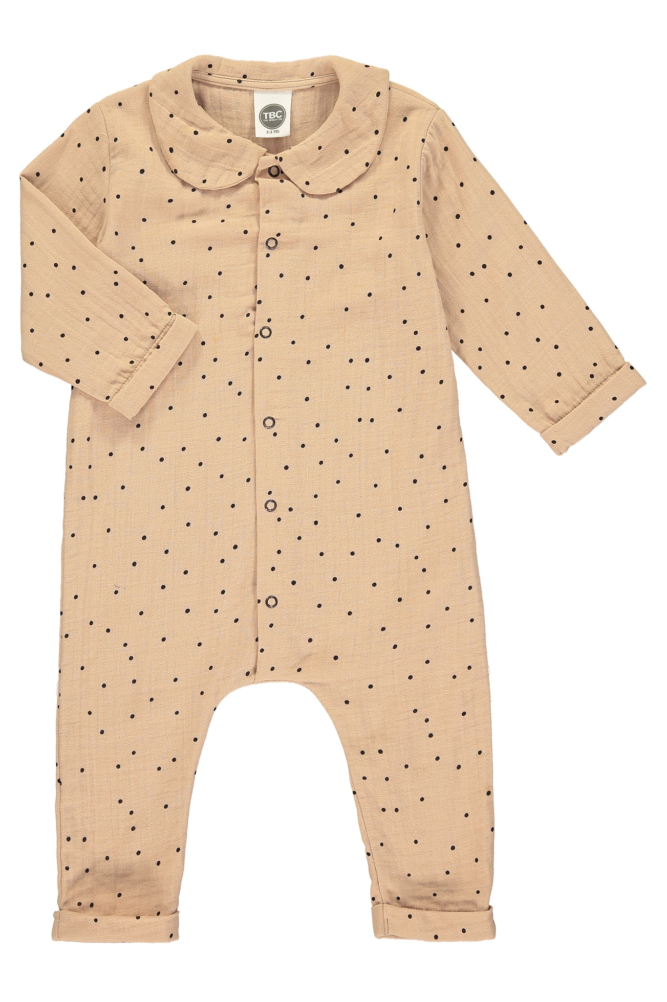 MUSLIN BABY SUIT - ROSE - The Bright Company