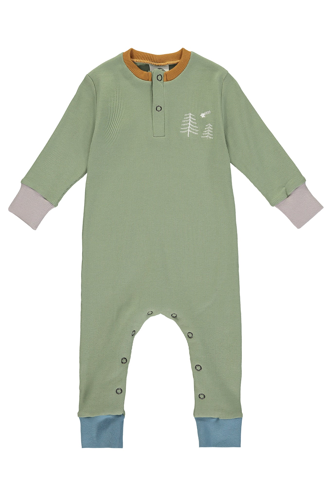 MONTY SLEEPSUIT - CHRISTMAS SPECIAL SAGE - The Bright Company