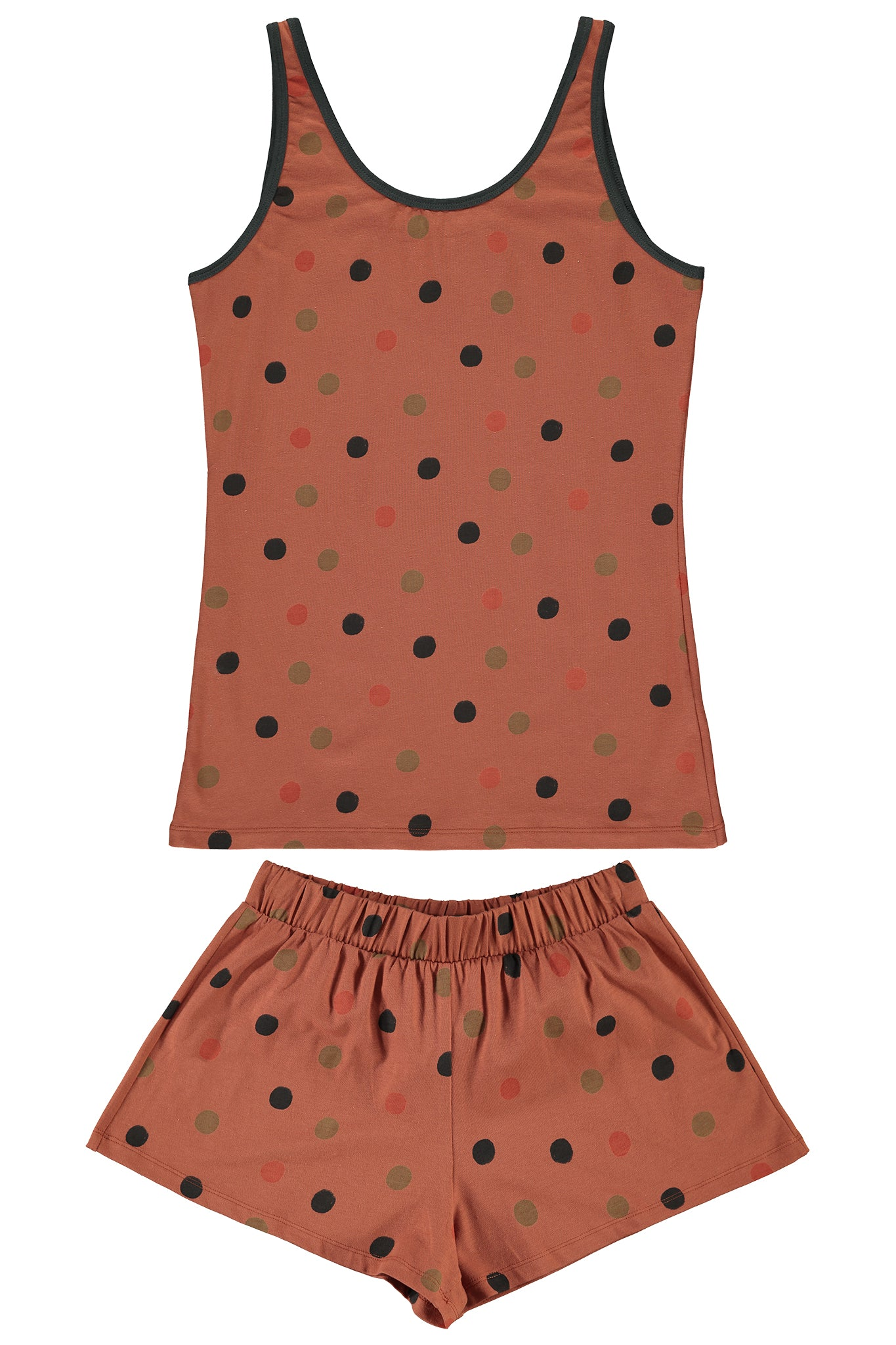 WOMEN'S SHORT JYMS- POLKA DOT RUST