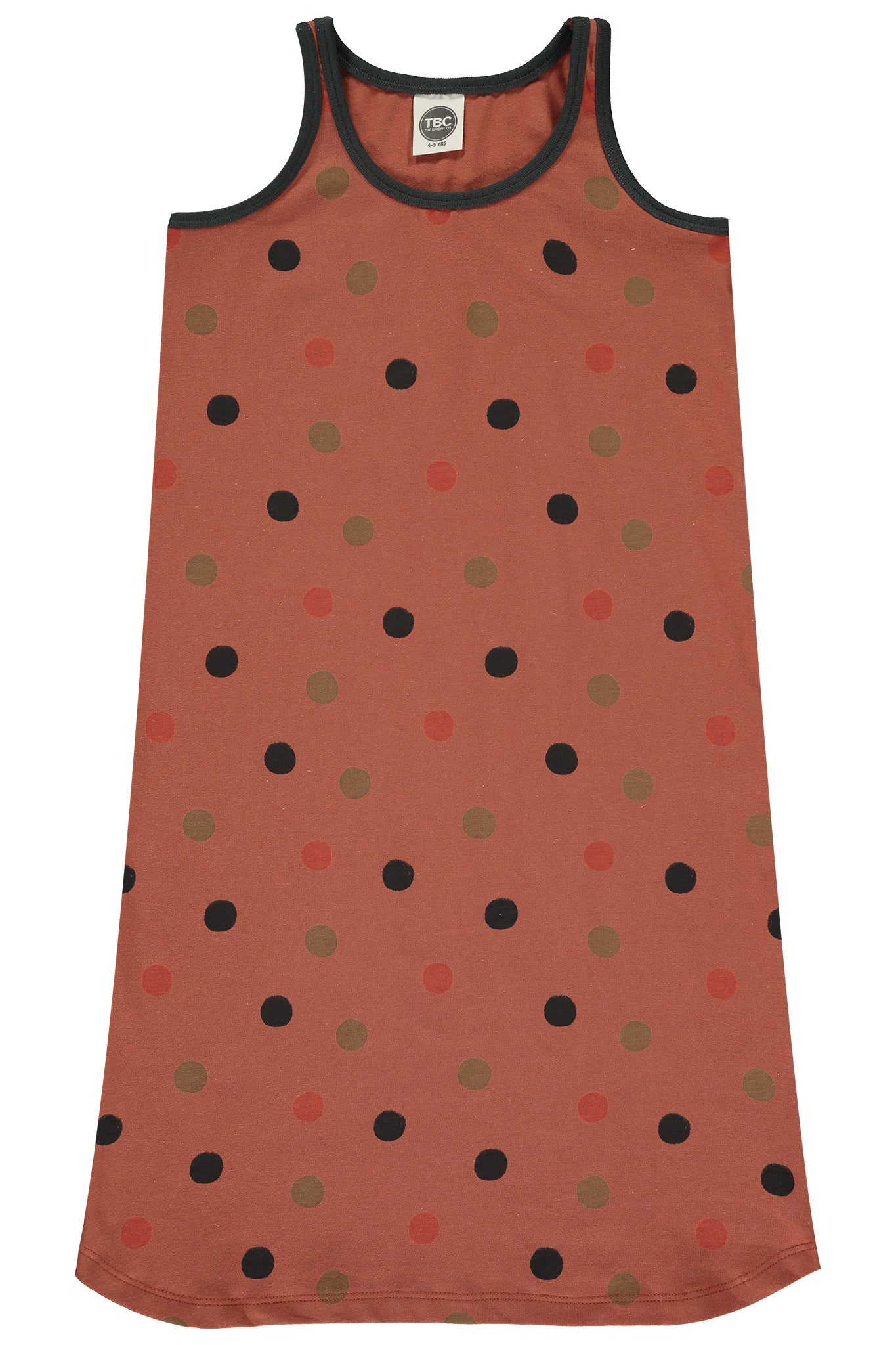SUMMER LOLL DRESS - POLKA DOT RUST