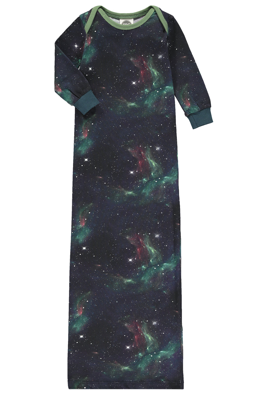 TIE UP BABY GOWN- GALAXY