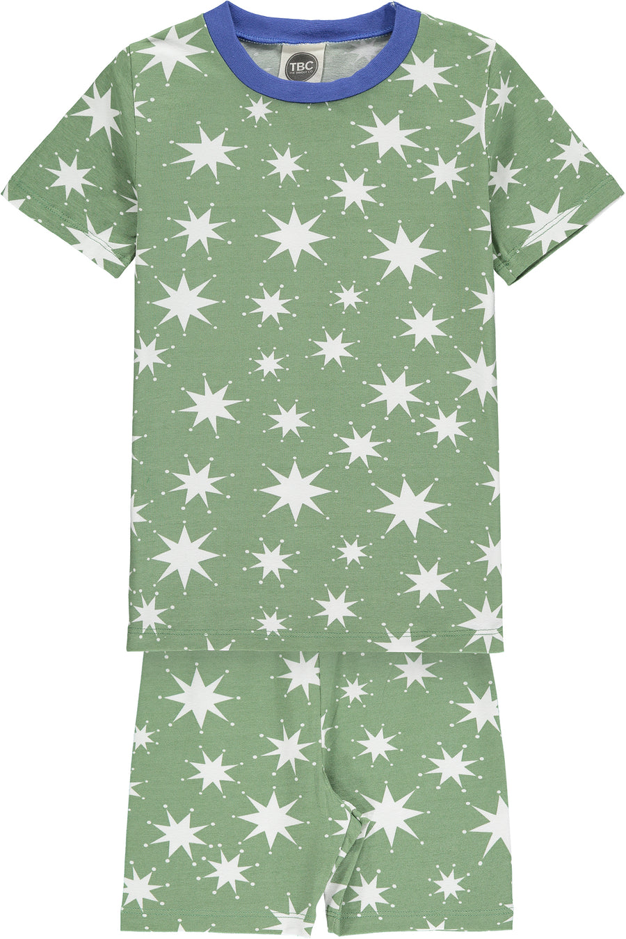 SHORT JYMS - STAR PRINT HEDGE GREEN