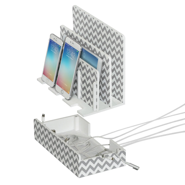 multi charging station great useful stuff with chevron and cord organizer