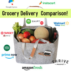 Grocery Delivery services comparison and review shipt amazonfresh whole foods thrive instacart google epxress