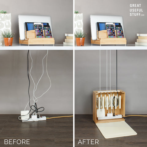 under desk organization cords charging power strip