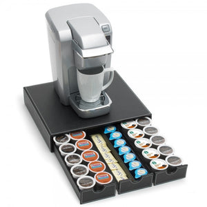 leather k-cup holder drawer