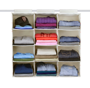 no sag 4 shelf hanging closet organizer for sweaters trousers pants and shirts
