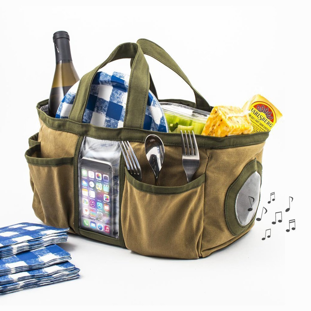 Cleaning Tote with Built-In Bluetooth Speaker - Great Useful Stuff