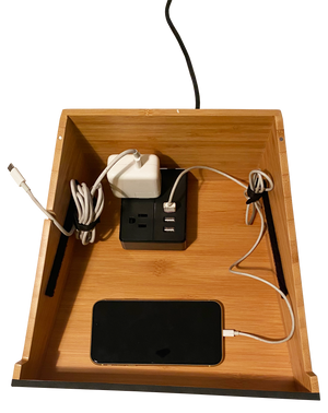 Load image into Gallery viewer, Laptop Stand And Organizer with Built-In Power Hub And Dry Erase Board - Great Useful Stuff - NEW