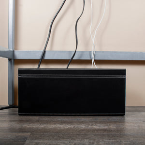 Large Cable Cubby - Black Leatherette - Great Useful Stuff