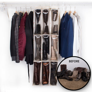 Hanging Boot Organizer - Great Useful Stuff