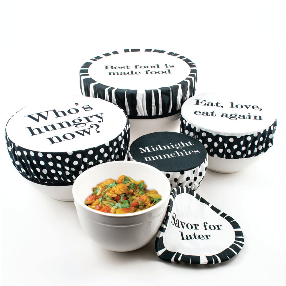Set of 5 - Tasty Trimmings Fabric Bowl Covers