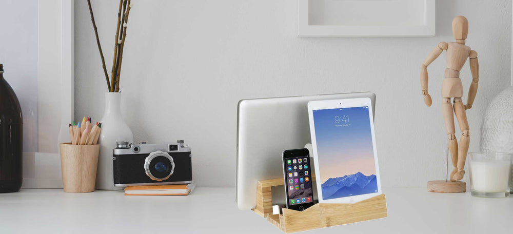 Bamboo Tablet Dock (iPad Stand & Holder) - Great Useful Stuff