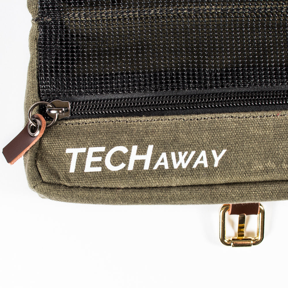 TechAway Travel Roll - Waxed Canvas