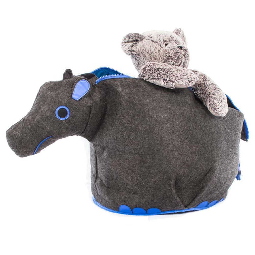 Load image into Gallery viewer, Animal Toy Storage Bin (Rhino, Hippo, Elephant) - Personalized - Great Useful Stuff