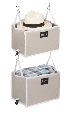 Hanging Closet Storage Bins - Great Useful Stuff